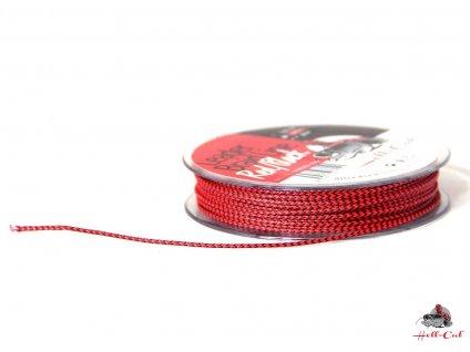 HELL-CAT SPLÉTANÁ ŠŇŮRA LEADER BRAID LINE RED/BLACK 20M