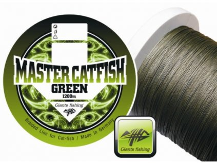 Giants Fishing  Splétaná šňůra Master Catfish Green 0,60mm