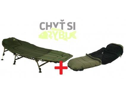 Giants Fishing Lehátko Specialist Bedchair 6Leg + Spací pytel Extreme 5 Season Sleeping Bag