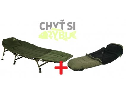 Giants Fishing Lehátko Specialist Bedchair 6Leg + Spací pytel Extreme 5 Season Sleeping Bag