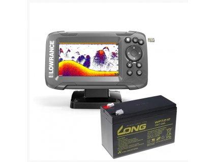 Lowrance Echolot HOOK2 4x GPS se Sondou Bullet Skimmer + baterie ZDARMA