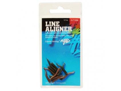 Giants Fishing Rovnátka na háček Line Aligner- Green-Brown