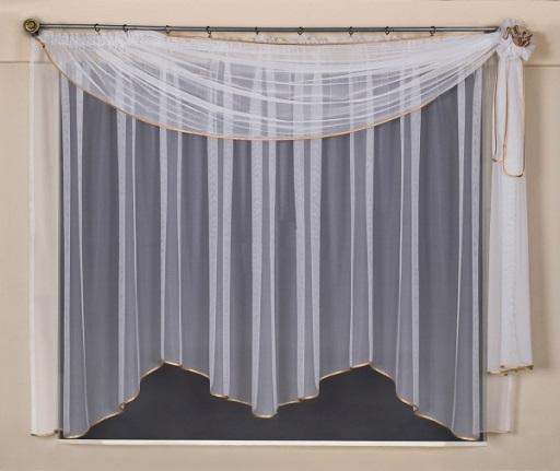 Kusové záclony, balkónové a vitrážkové sady