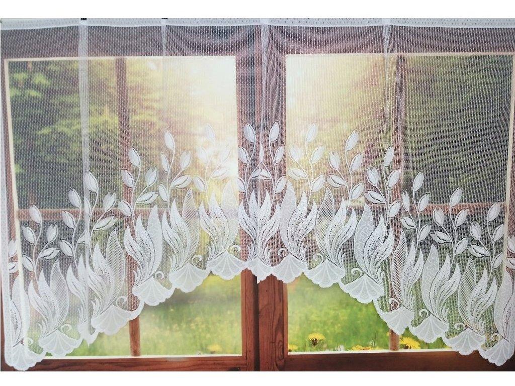 Kusová záclona Tulipánek