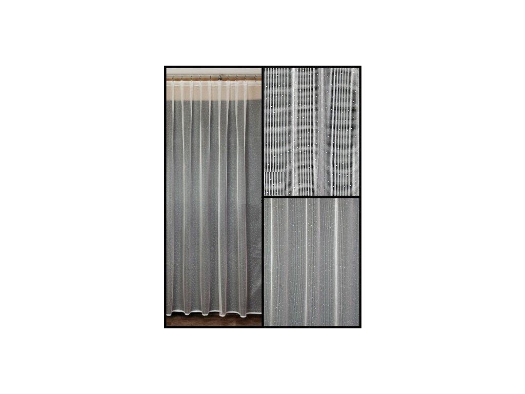Záclona žakárová Barisa - zbytky