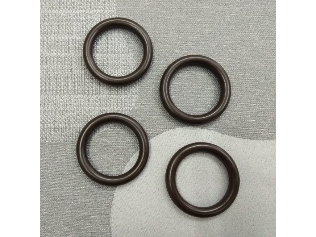 Záclonový kroužek malý  - hnědý