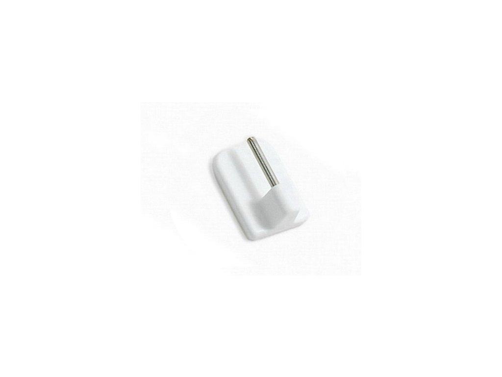 Samolepící vitrážové háčky - bílé