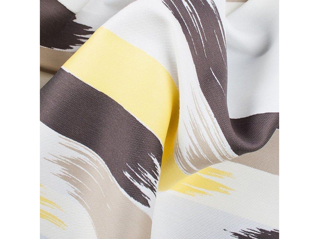 Designový závěs - žlutý