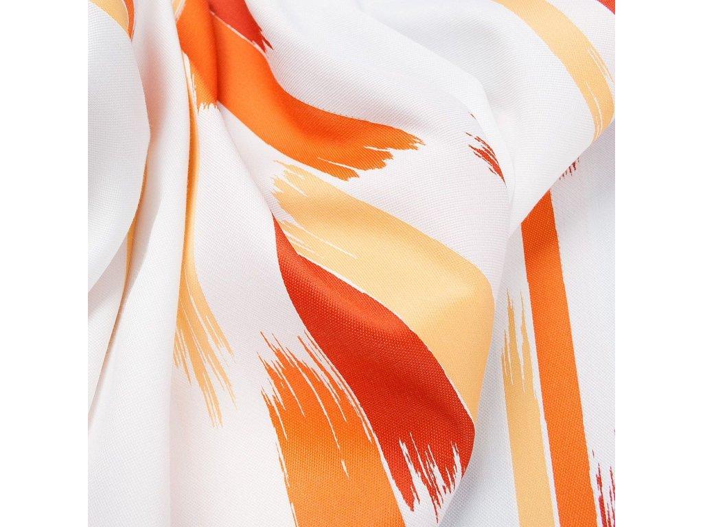 Designový závěs - oranžový