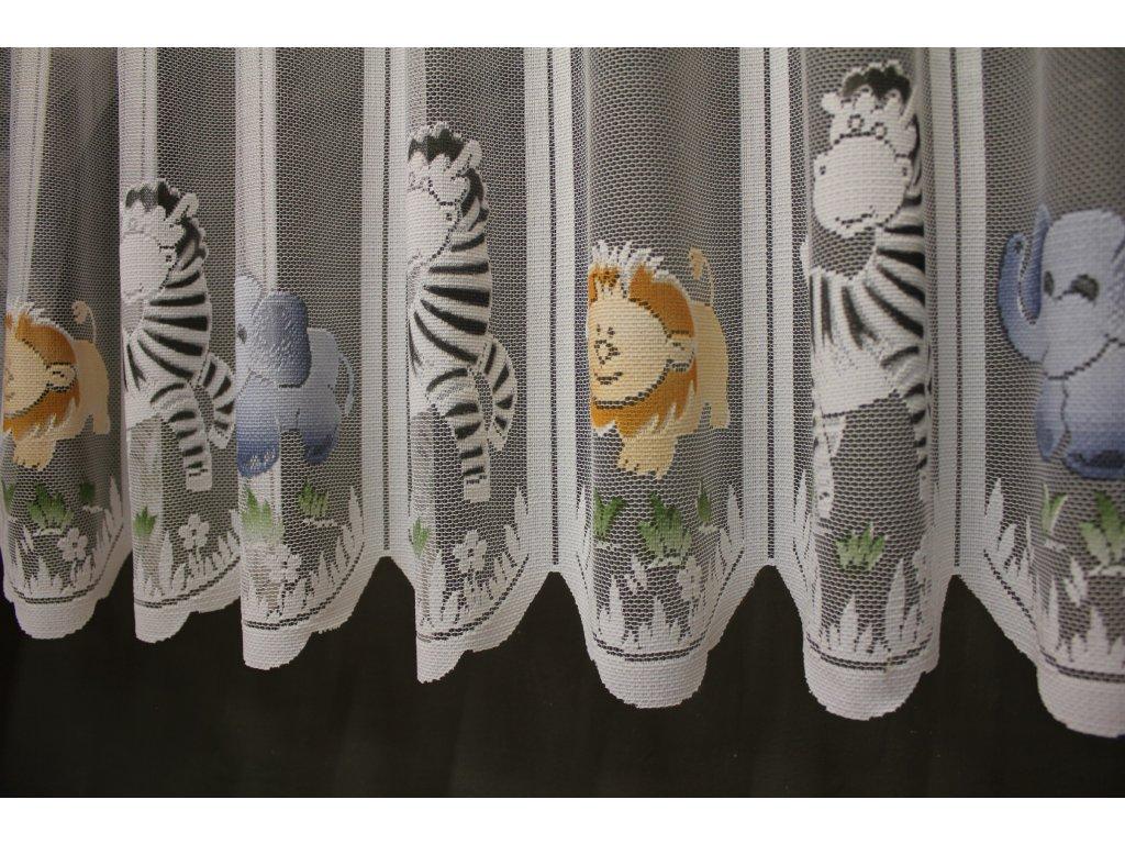 Dětská vitrážová záclonka Safari