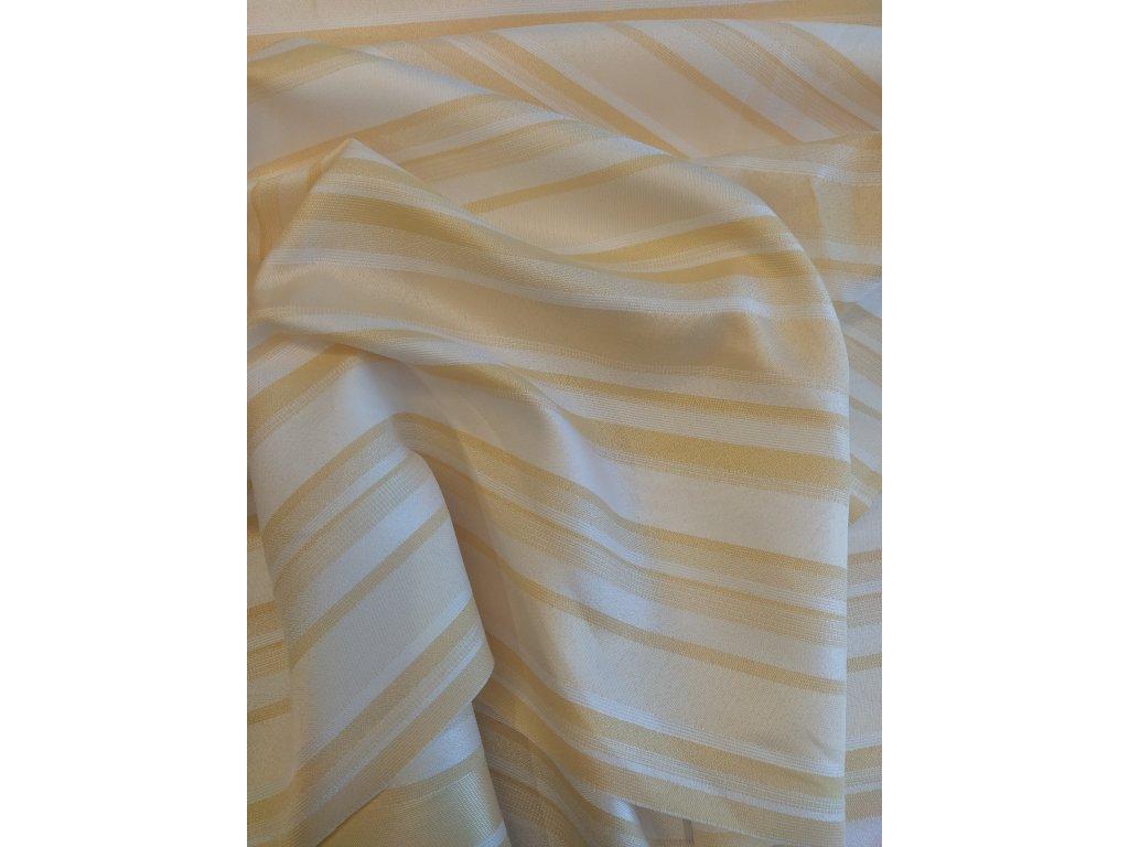 Dekorační látka žluto/bílá