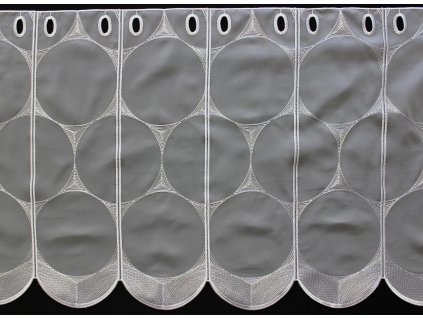 Voálová vitrážová záclona