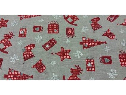 Dekorační látka - Vánoční nadílka