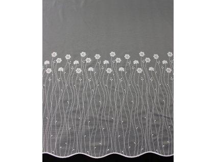 Vyšívaná vitrážka - Květinky