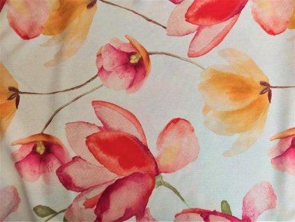 Dekorační látka květy