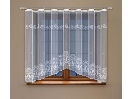 Moderní oblouková záclona Alexia
