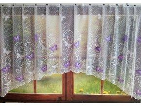 Kusová záclona Motýlek - fialová