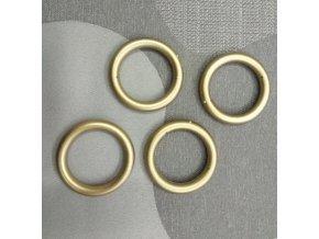 Záclonový kroužek malý  - zlatý