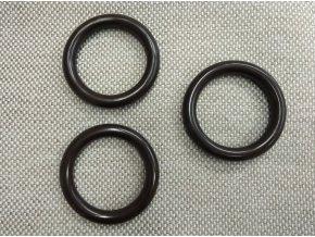Záclonový kroužek - hnědý