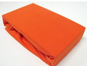 jersey prosteradlo 90 x 200 premium oranzova 0 600x600