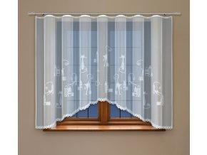 Dětská oblouková záclona Čičinka