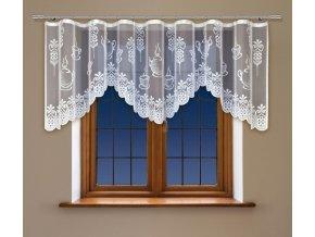 Hotová oblouková záclona do kuchyně