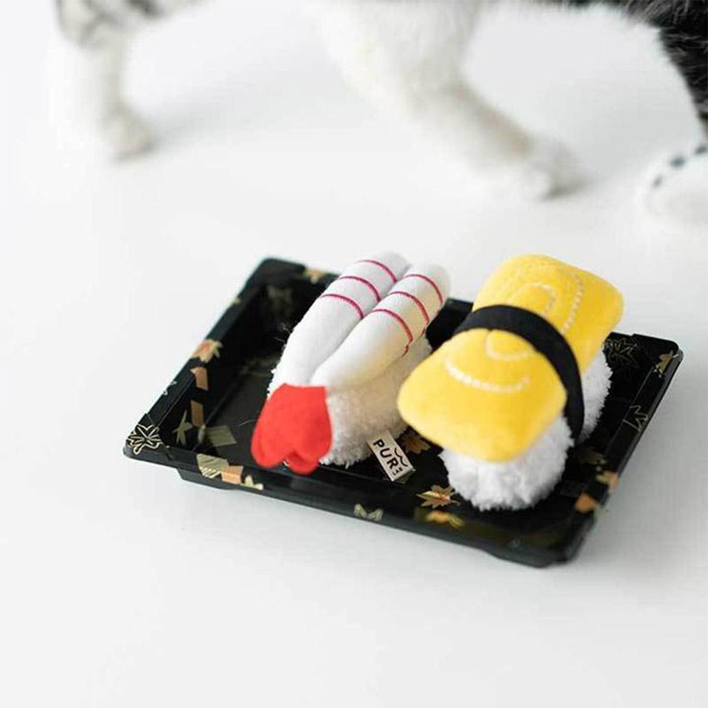 hračky pro kočky sushi set