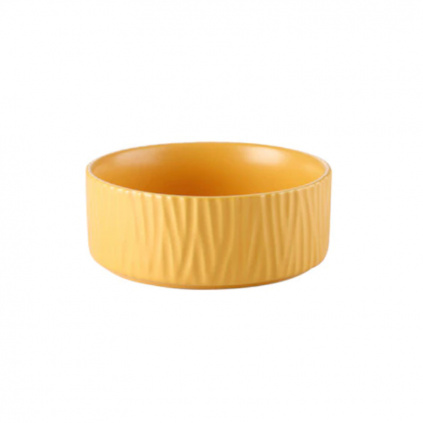 Keramická miska pro kočky WAVE yellow