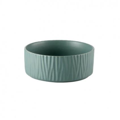Keramická miska pro kočky WAVE green