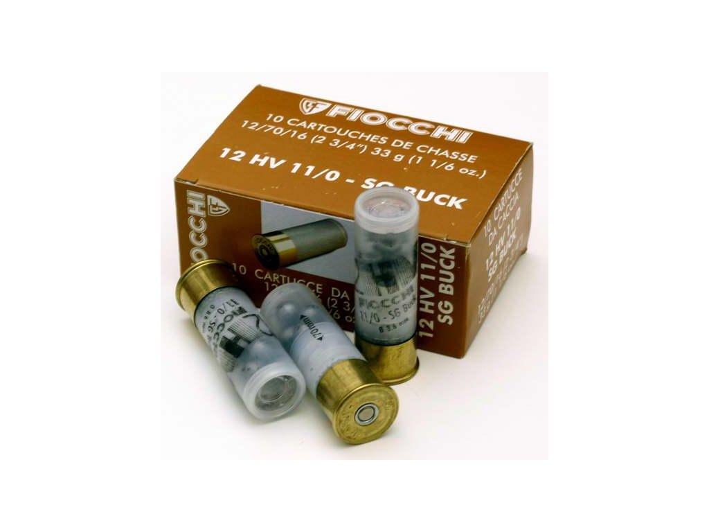 Náboj 12/70/16 HV 8,6mm 11/0 SG-BUCK 33g Fiocchi