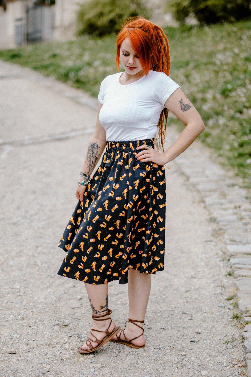 sukně LIŠKA v barevných variantách