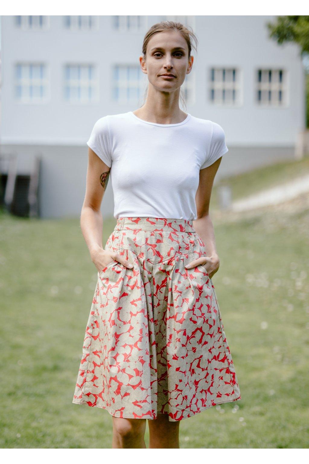 sukně s kapsami LÍSTKY