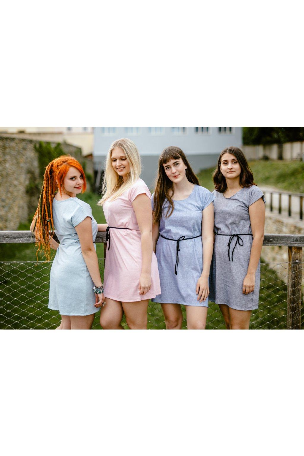 šaty TENKÝ PROUŽEK v barevných variantách