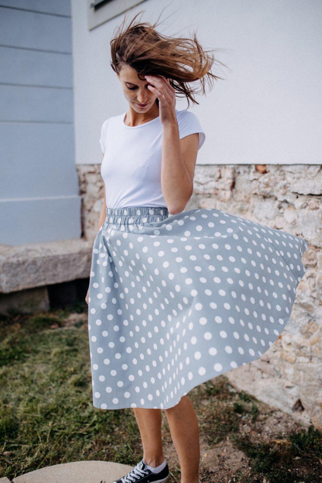 sukně PUNTÍKY 18mm v barevných variantách