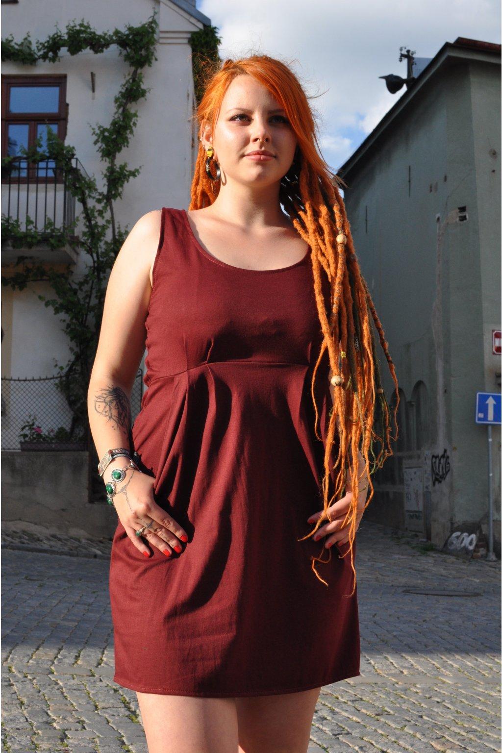 šaty ITALKY tmavě červené