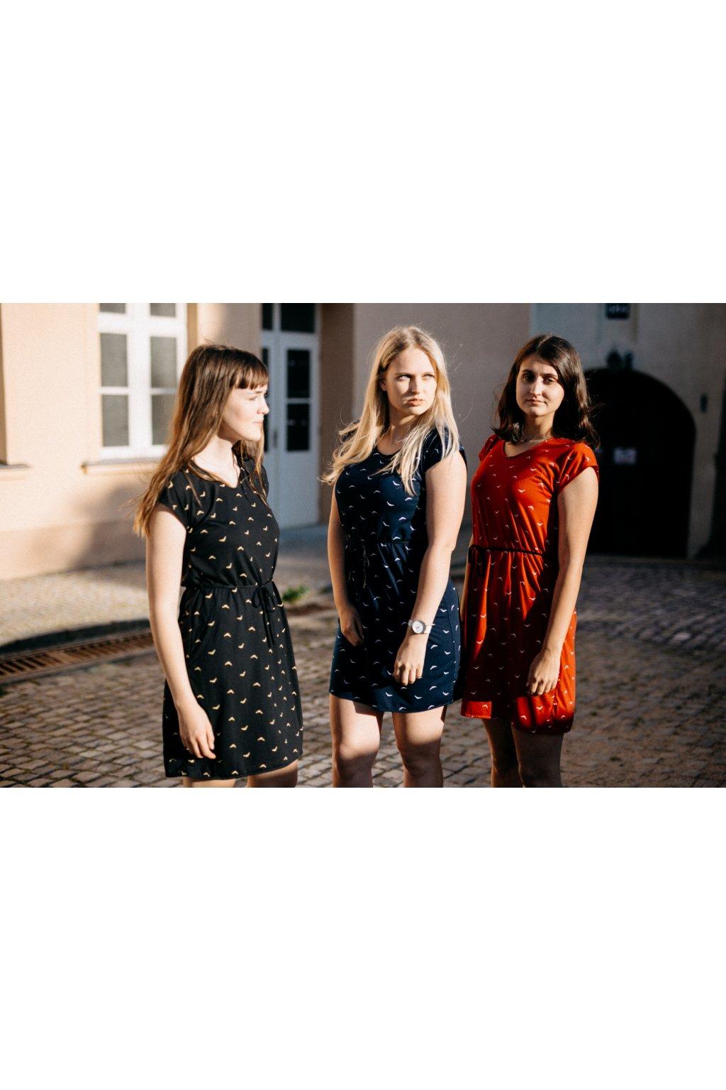 šaty PTÁCI v barevných variantách