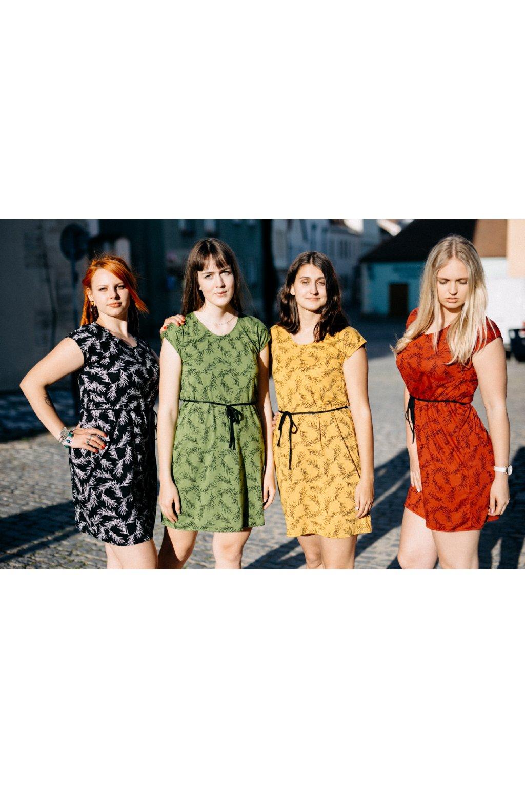 šaty PÍRKA v barevných variantách