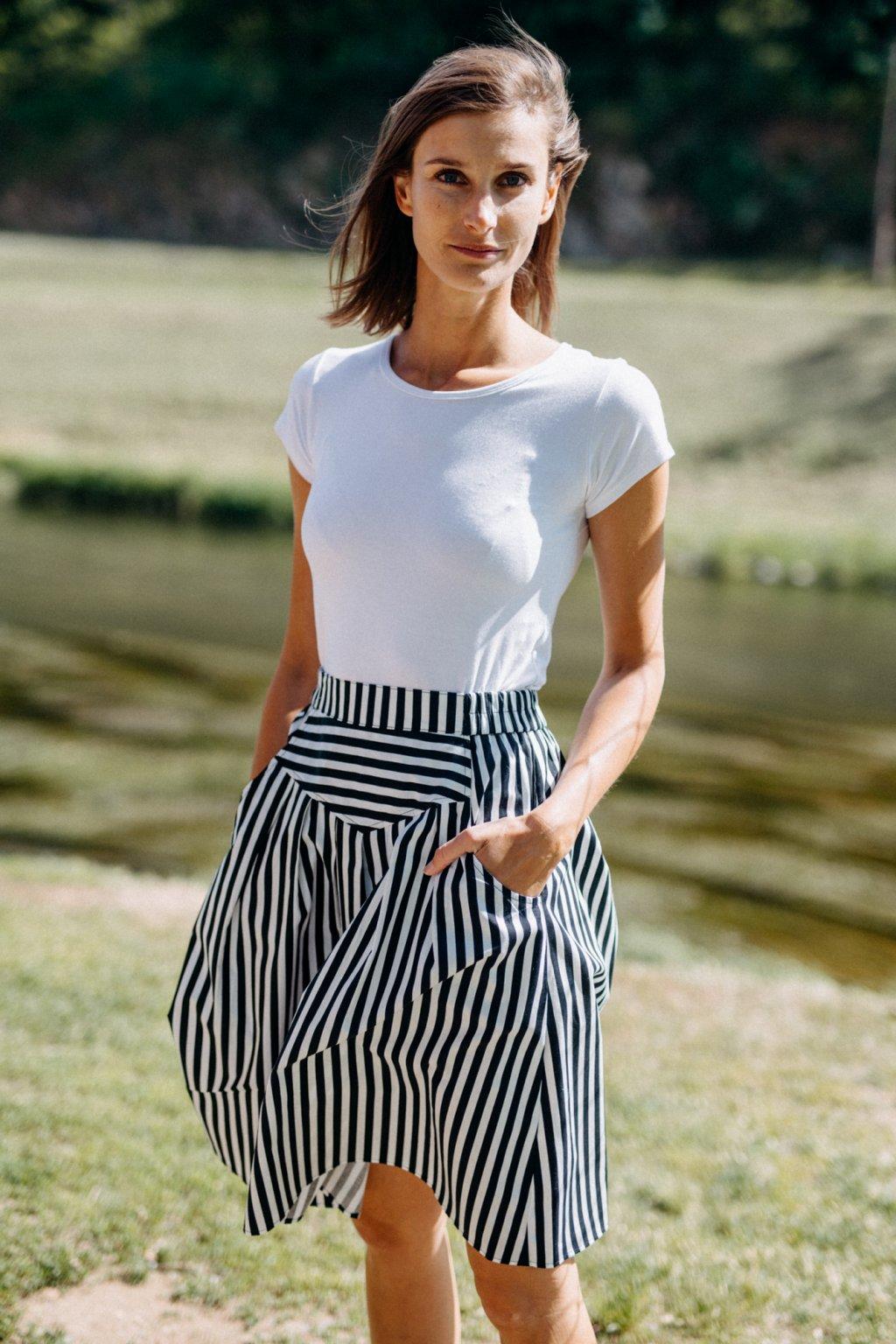 sukně s kapsami PRUHY 12mm