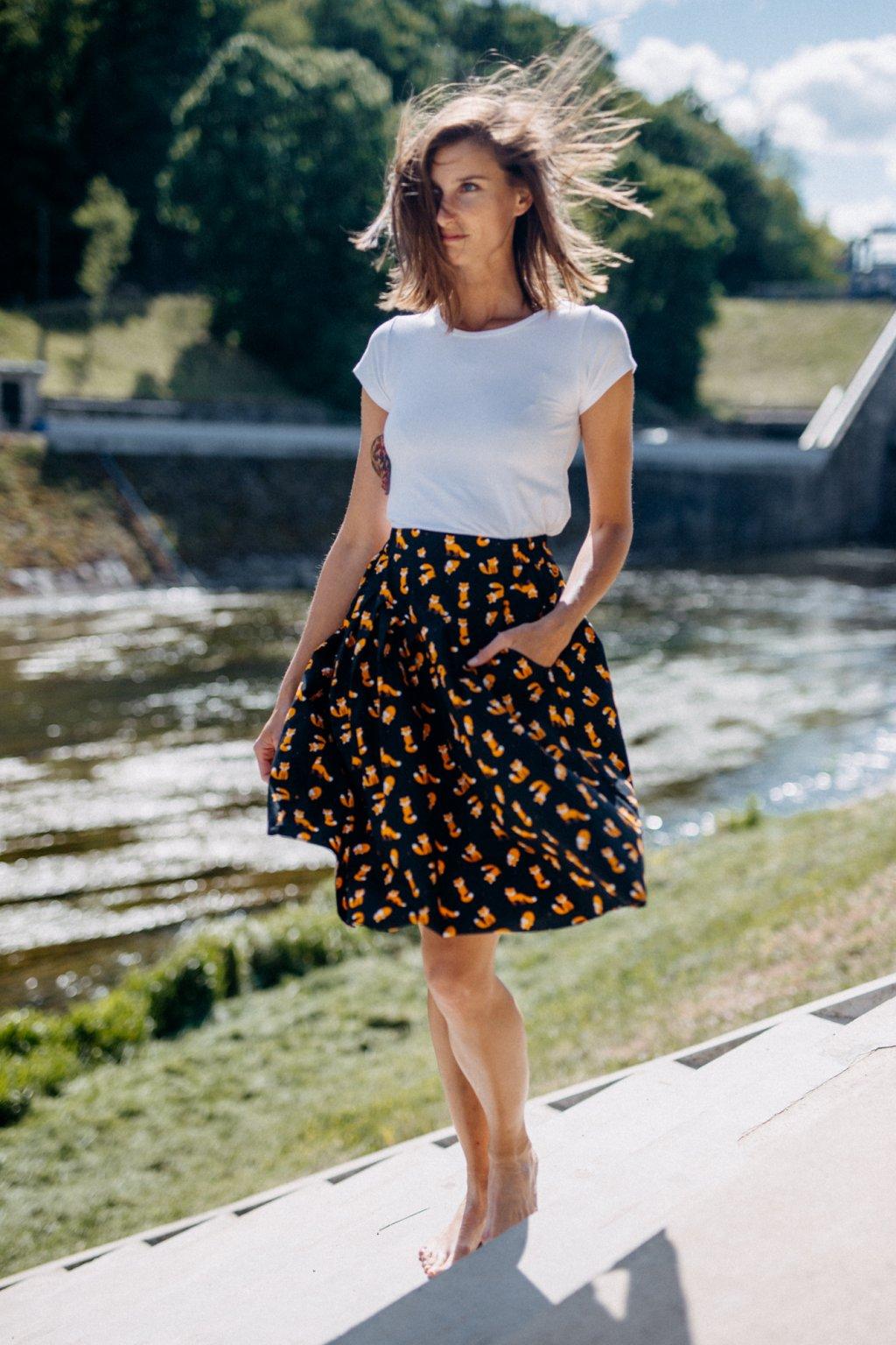 sukně s kapsami LIŠKA