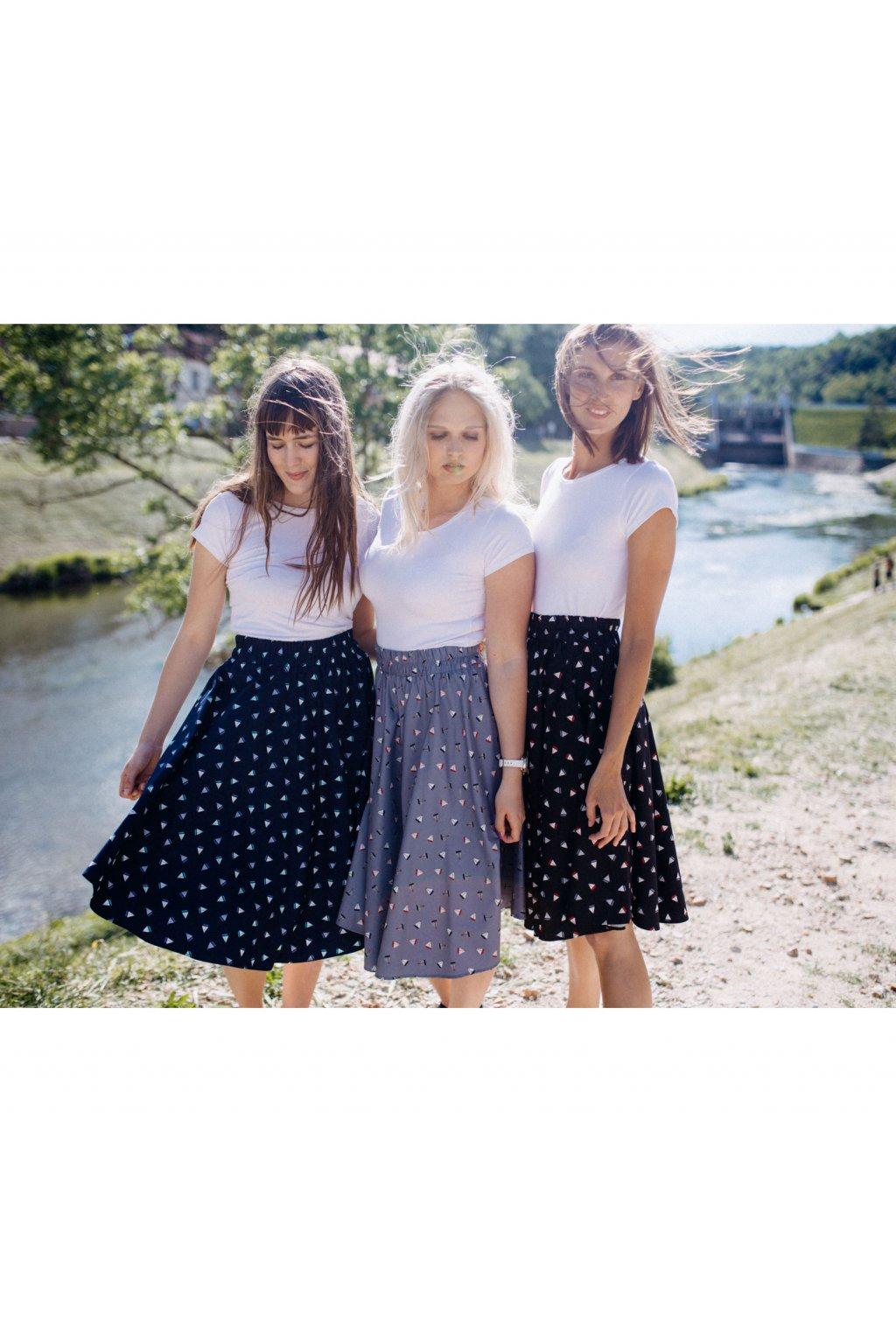 sukně PLACHETNICE v barevných variantách