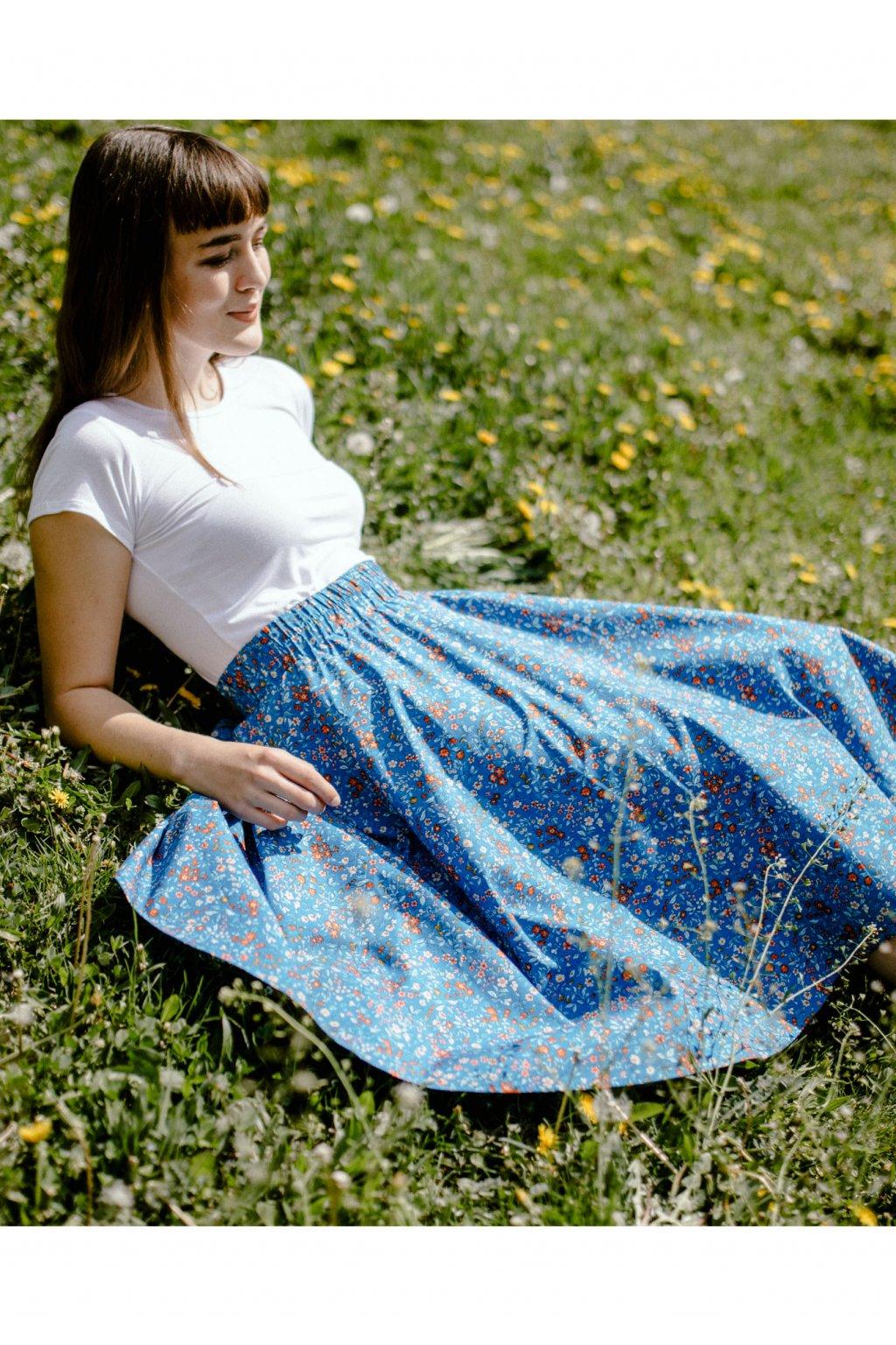 sukně DROBNÉ KVĚTY v barevných variantách