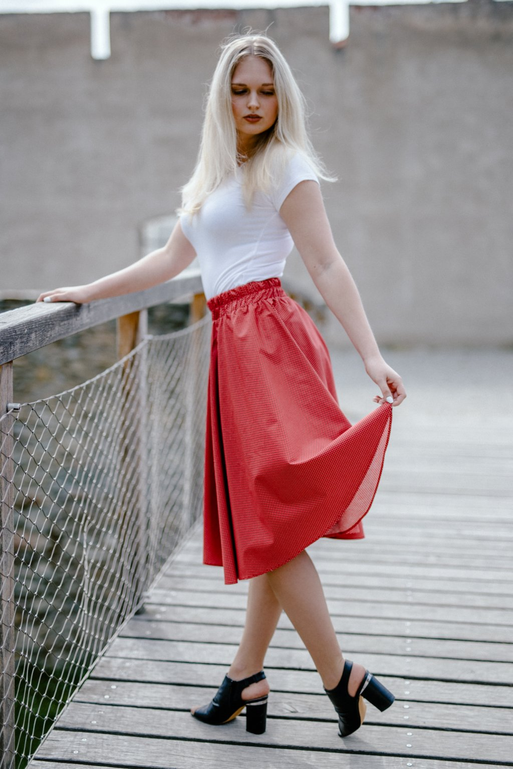 sukně MIKRO PUNTÍKY v barevných variantách