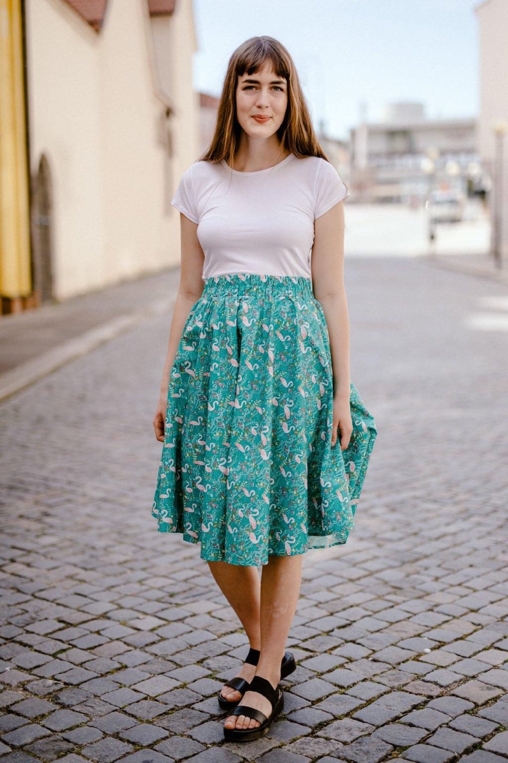 sukně RŮŽOVÝ PLAMEŇÁK v barevných variantách