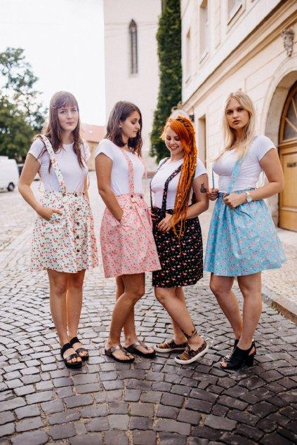 sukně PLAMEŇÁK v barevných variantách
