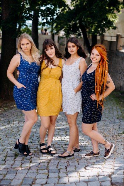 šaty ITALKY LODIČKY ŽLUTÉ v barevných variantách