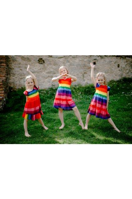 dětské šaty BARVY DUHY