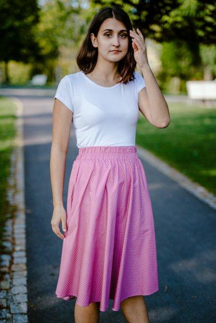 sukně PUNTÍKY v barevných variantách