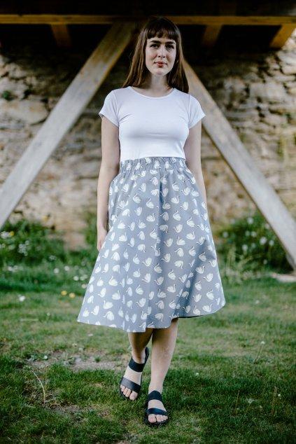 sukně LABUTĚ v barevných variantách