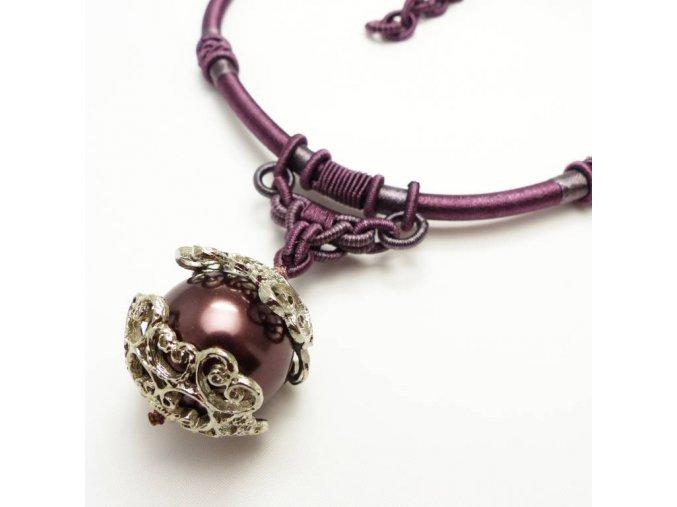 BHN0089 privesek na snurce perla