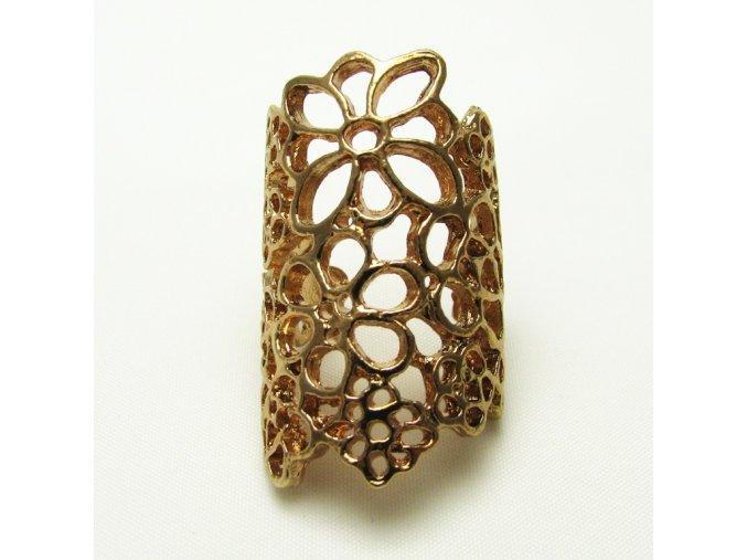 BPV0069B prsten s kytickami zlaty